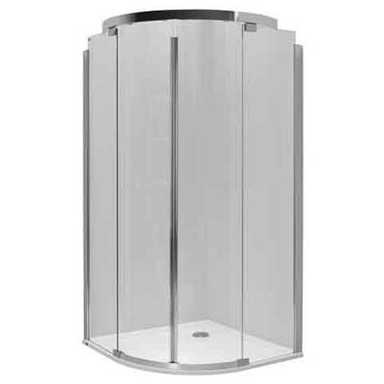 Kabina prysznicowa półokrągła S600 90x90cm szkło hartowane, GlasPlus JKPG90222003 Koło
