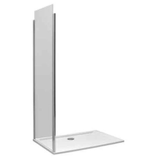 Ścianka prysznicowa boczna S600 90cm szkło hartowane, profil srebrny matowy JSKX90222001 Koło