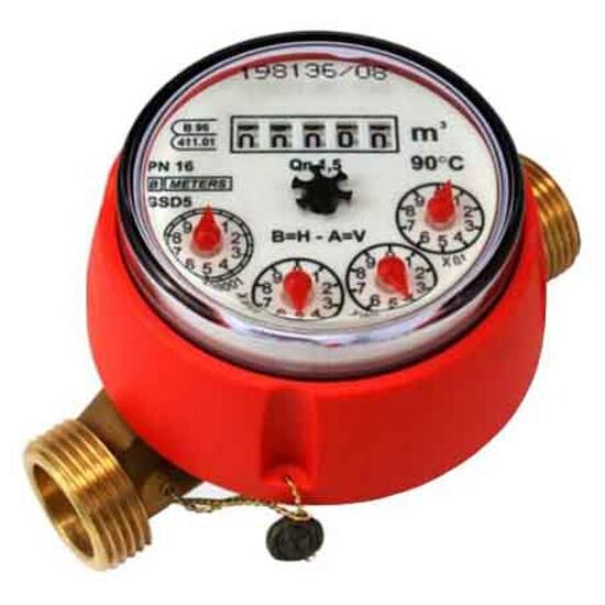"""Wodomierz GSD5 Qn=1,0 1/2"""" DN15 suchobieżny do ciepłej wody BMETERS"""