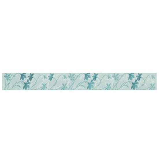 Płytka ścienna Palette Blue listwa kwiaty 7x60 Paradyż