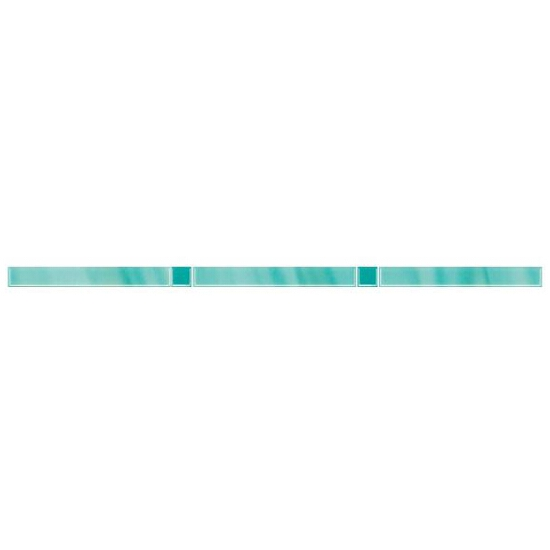 Płytka ścienna Palette Blue listwa Murano 2,3x60 Paradyż