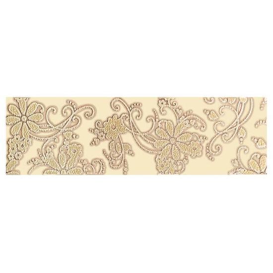 Płytka ścienna Delicate Beige Kwiaty listwa 15x50 Paradyż