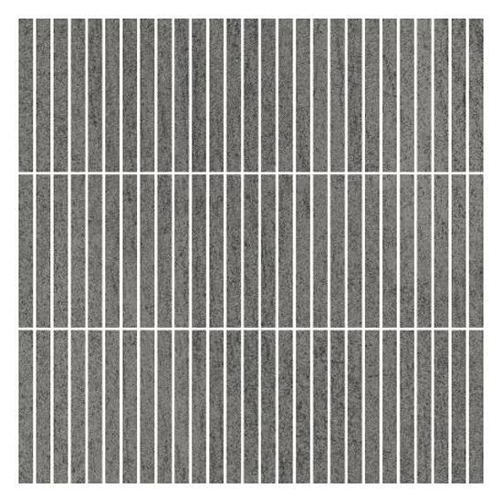 Mozaika Affron Grafit inserto paski mix 32,5x32,5 Paradyż