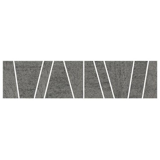 Gres Affron Grafit listwa B mix 7,9x32,5 Paradyż