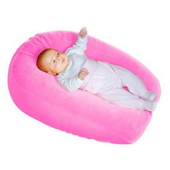 Pokrowiec welurowy Gniazdko na poduszkę Relax róż BabyMatex