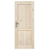 Drzwi sosnowe Lugano pełne 80 prawe Radex