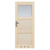 Drzwi sosnowe Bort przeszklone (1 szyba) z tulejami 70 lewe Radex