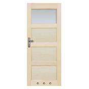 Drzwi sosnowe Obsydian przeszklone (1 szyba) z tulejami 80 prawe Radex