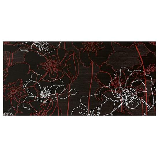 Płytka ścienna centro Infinita brąz flower line a 29x59,3