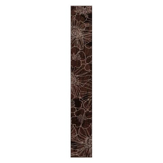 Płytka ścienna Flores brąz silver 35x5