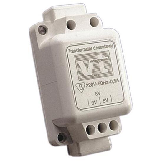 Transformator 1-fazowy dzwonkowy 0,5A T-90 Videotronic