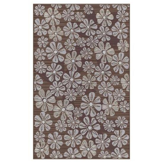 Płytka ścienna Euforia brown inserto kwiatek 2 25x40