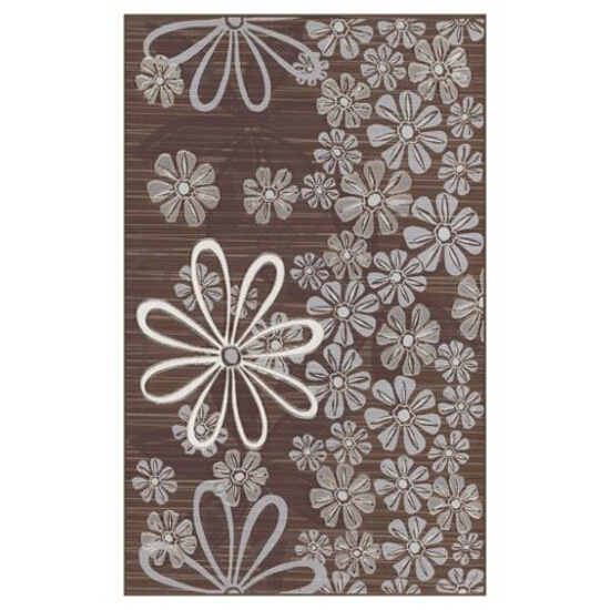 Płytka ścienna Euforia brown inserto kwiatek 3 25x40