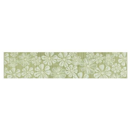 Płytka ścienna Euforia verde listwa kwiatek 2 40x8,5