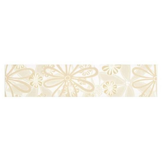 Płytka ścienna Euforia bianco listwa kwiatek 1 40x8,5