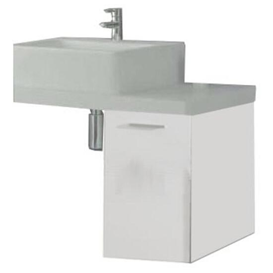 Szafka łazienkowa wisząca KWADRO 1D WHITE 163081 Elita