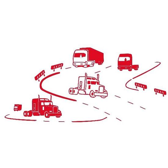 Naklejka dekoracyjna welurowa ciężarówki 673053-6 Klimaty Domu
