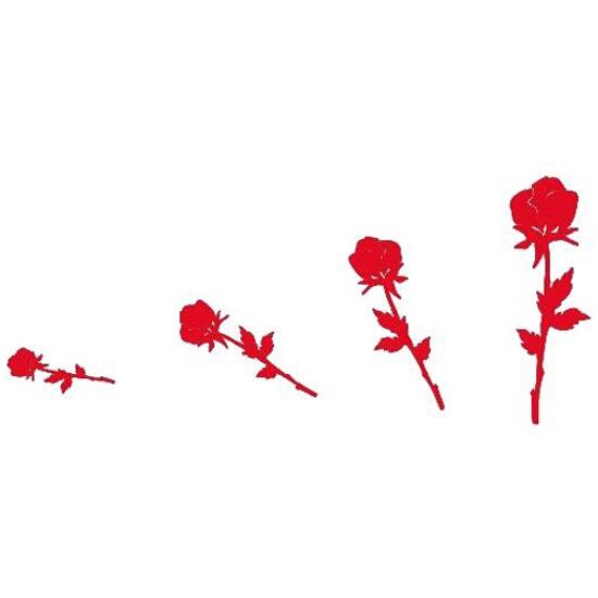 Naklejka dekoracyjna welurowa róże 671005-6 Klimaty Domu