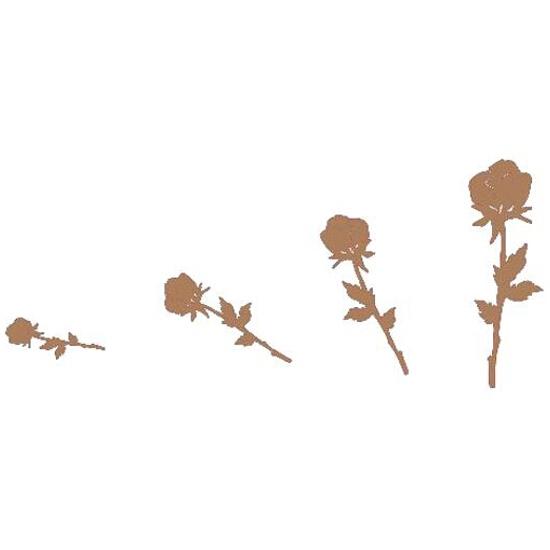 Naklejka dekoracyjna welurowa róże 671005-8 Klimaty Domu