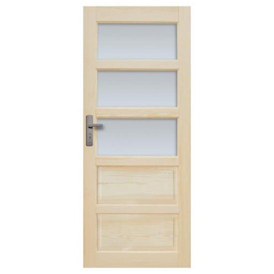 Drzwi sosnowe Sevilla przeszklone (3 szyby) 80 lewe Radex