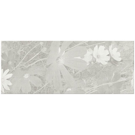 Płytka ścienna Soft Ornament grey flower inserto 20x50