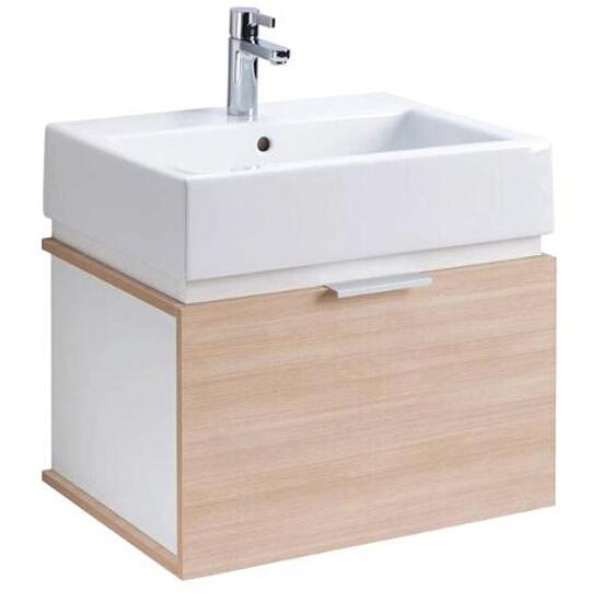 Szafka z umywalką w zestawie TWINS 50 L59025000 biała / dąb arava Koło