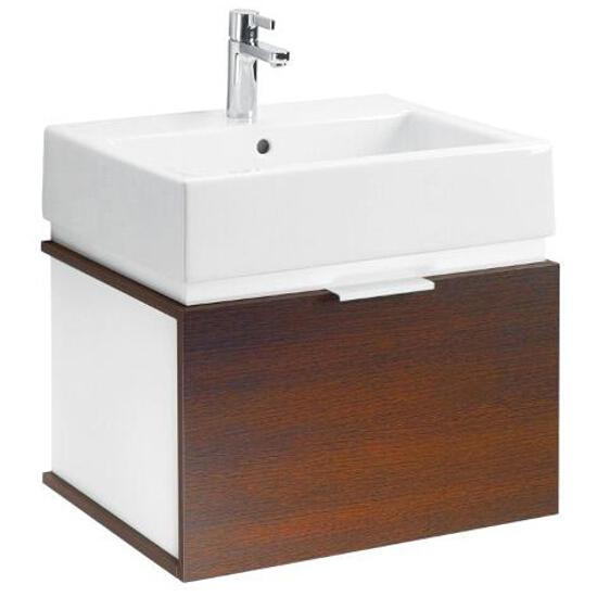 Szafka z umywalką w zestawie TWINS 60 L59028000 biała / wenge Koło