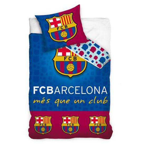 Pościel kibica FC Barcelona Błękit 160x200+70x80 Carbotex