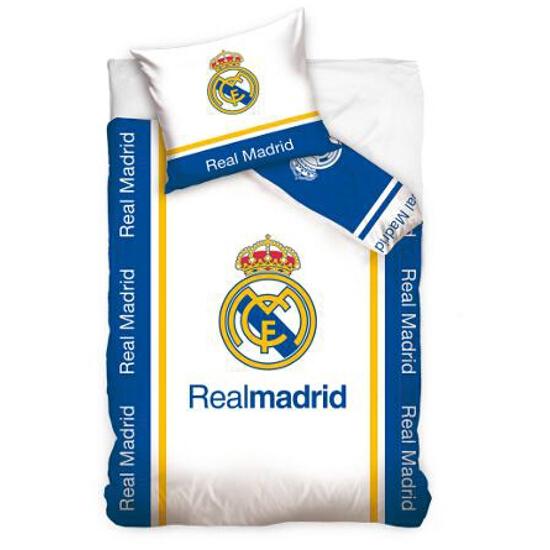 """Pościel kibica Real Madryt """"Logo na białym tle"""" 160x200+70x80 Carbotex"""