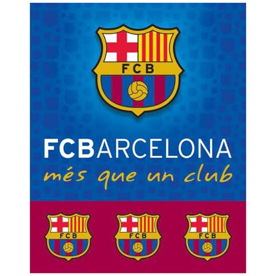 """Koc kibica FC Barcelona """"Błękitne herby w tle"""" 120x150 Carbotex"""
