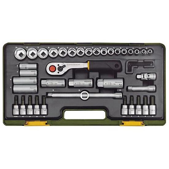 """Zestaw kluczy nasadowych kompaktowy 3/8"""" 44 części 23282 PROXXON"""