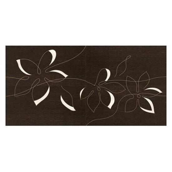 Płytka ścienna Mogano/Travena Brown panel Kwiat 4x32,5x65,1 opakowanie styropianowe Paradyż