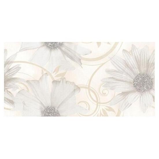 Płytka ścienna Sabro Bianco inserto drukowane Kwiat 29,5x59,5 Paradyż