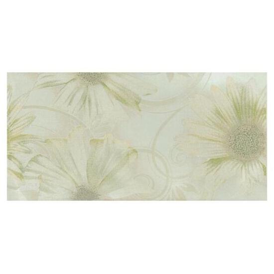 Płytka ścienna Sabro Verde inserto drukowane Kwiat 29,5x59,5 Paradyż