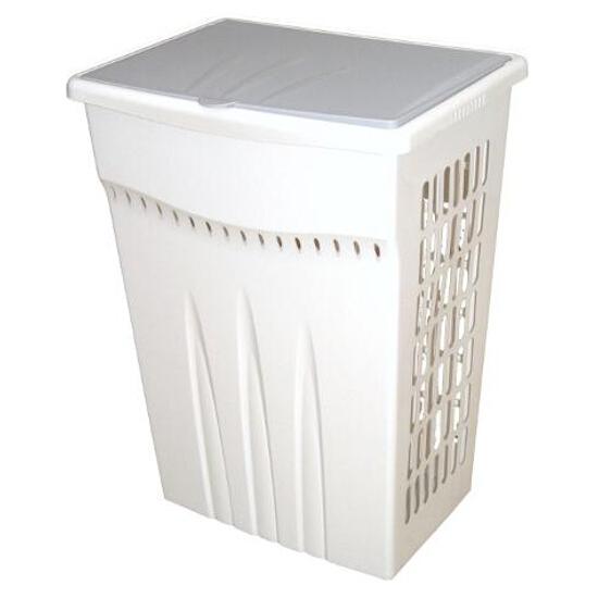 Kosz na pranie prostokątny 42,5L biały Plast Team
