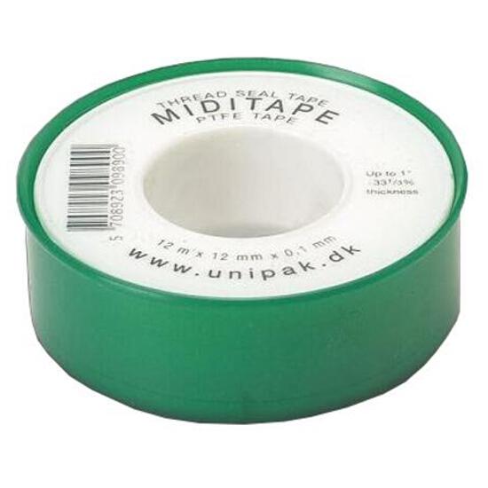 Taśma teflonowa MIDITAPE 0,1mm x 12mm x 12mb Unipak