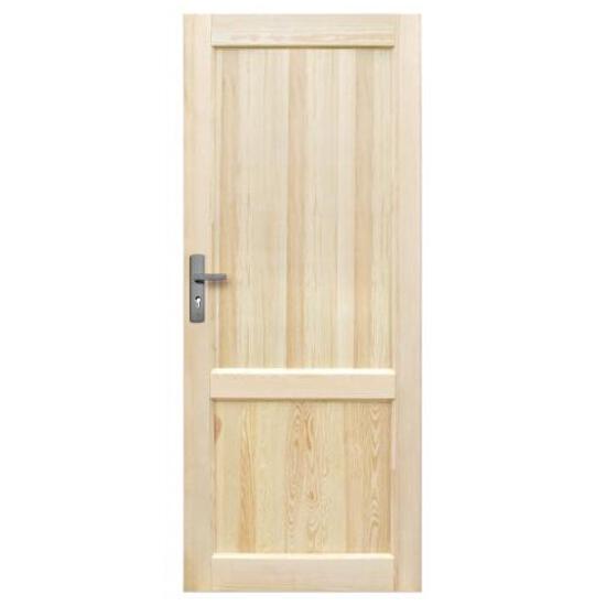 Drzwi sosnowe Perkoz pełne 70 prawe Radex