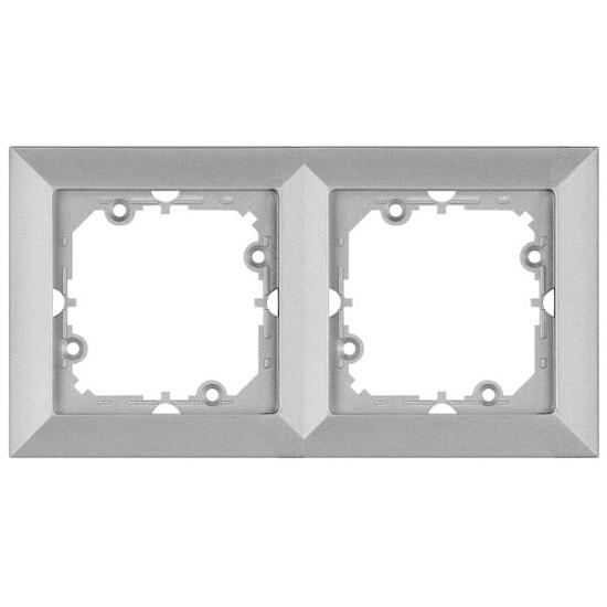 Ramka PERŁA podwójna RA-2P srebrny Abex