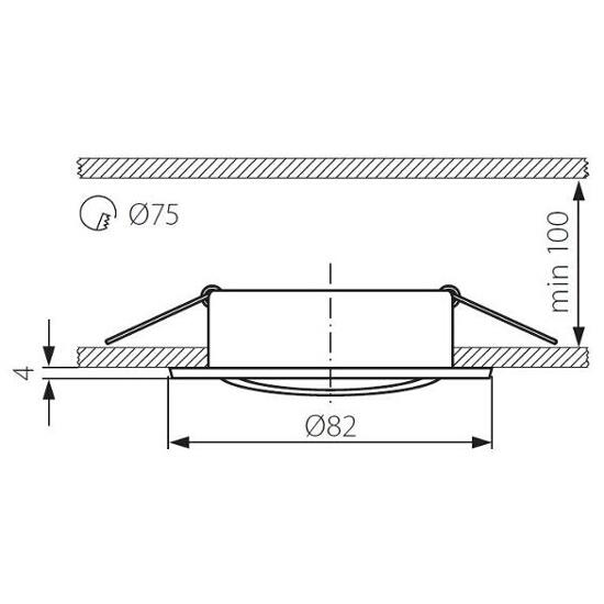 Oprawa punktowa BASK CTC-5515-SN/N Kanlux