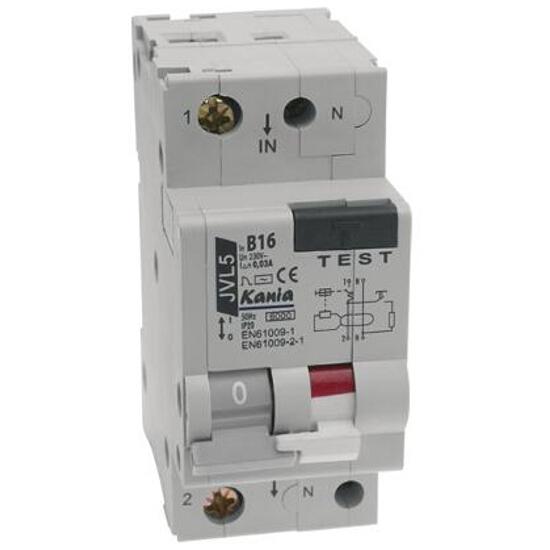 Wyłącznik nadprądowy z zabezpieczeniem nadprądowym JVL5/2 B16/003A Kanlux
