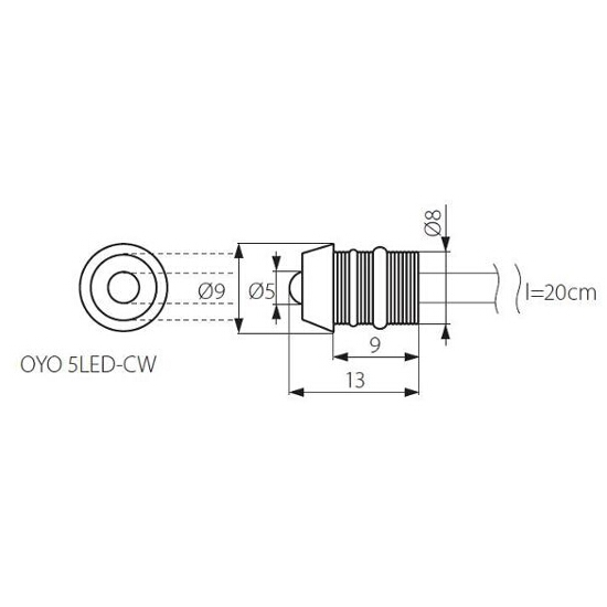 Oprawa punktowa OYO 5LED-CW Kanlux