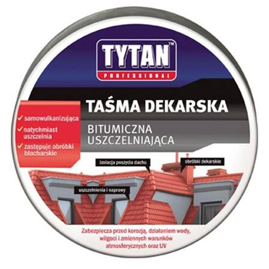 Taśma dekarska aluminiowa 300mmx10m Tytan