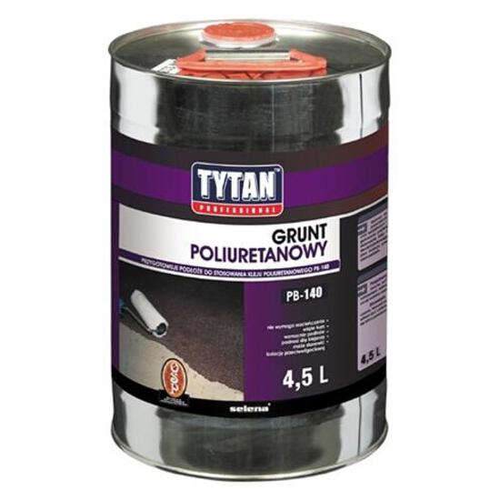 Grunt uniwersalny poliuretanowy PB-140 pod klej do parkietu 4,5l Tytan