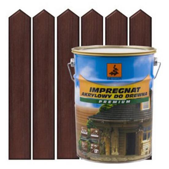 Impregnat ochronno-barwiący do drewna 5L PALISANDER metal DRAGON