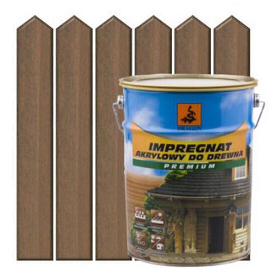 Impregnat ochronno-barwiący do drewna 5L ORZECH metal DRAGON