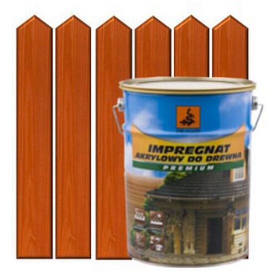 Impregnat ochronno-barwiący do drewna 5L DĄB JASNY metal DRAGON