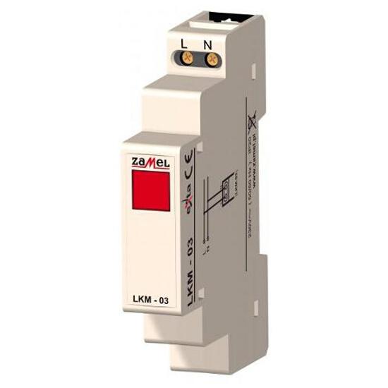 Kontrolka sygnalizacyjna zasilania 230V LED czerwona typ: LKM-03-10 Zamel