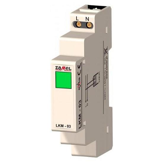 Kontrolka sygnalizacyjna zasilania 230V LED zielona typ: LKM-03-20 Zamel