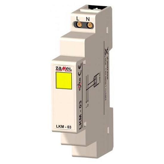 Kontrolka sygnalizacyjna zasilania 230V LED żółta typ: LKM-03-30 Zamel