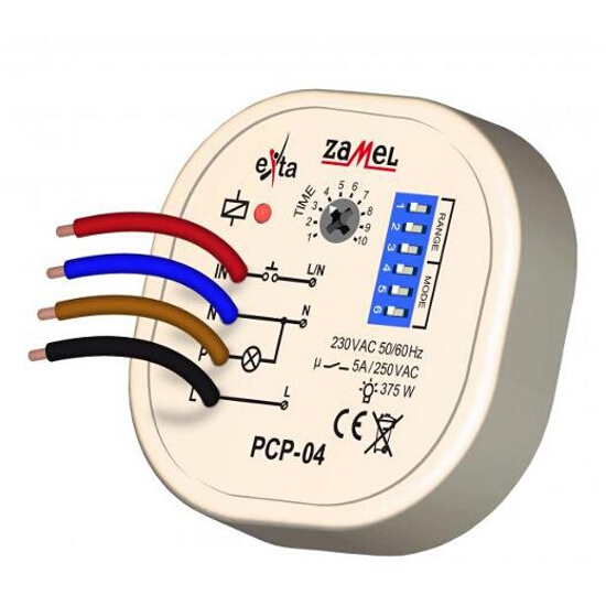 Przekaźnik czasowy wielofunkcyjny 230V typ: PCP-04 Zamel